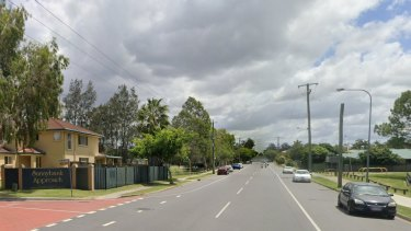 The fight broke out in Diamond Place (left) and spilled out onto Daw Road (centre), next to the park (right).