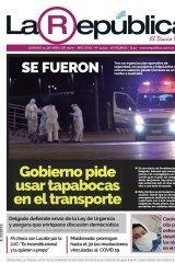 The ship's predicament was front-page story in Uruguayan newspaper La Republica.