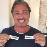 John Ibrahim with the waxed eyebrows.