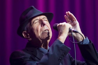 The late Leonard Cohen during his 2013 Australian tour.