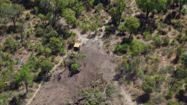 Clearing work undertaken for the Roe 8 project before it was dropped by Labor after the 2017 election.