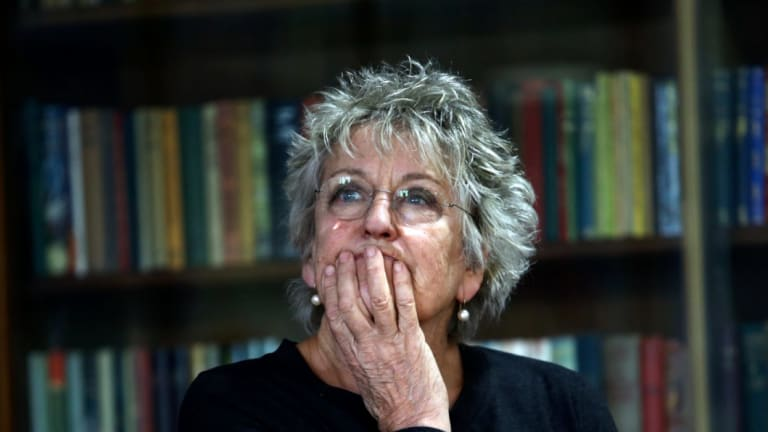 Germaine Greer at the University of Melbourne where her personal collection of writing materials has been purchased.