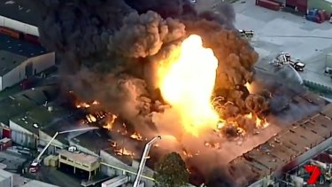 The West Footscray factory fire in August.