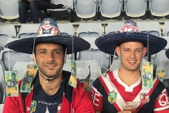 Dean Rob, left, has hated Souths for as long as he can remember.