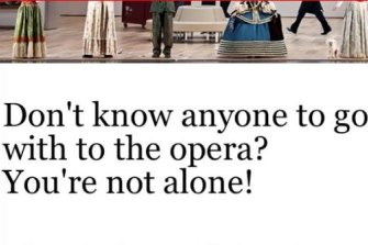 Opera for One - a new program to address the reluctance of people to go it alone.