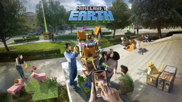 Minecraft Earth will be a free-to-play app powered by augmented reality.