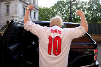 British PM Boris Johnson backs England at the Euros ... after leading the effort to leave Europe.
