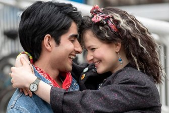 Viveik Kalra and Nell Williams in Blinded By The Light.