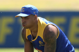 Tim Kelly reported to training early to get comfortable with his new surrounds at West Coast.