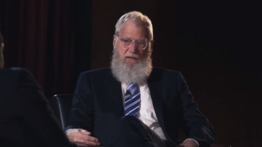 """David Letterman said he feared he had """"blown up"""" his family."""