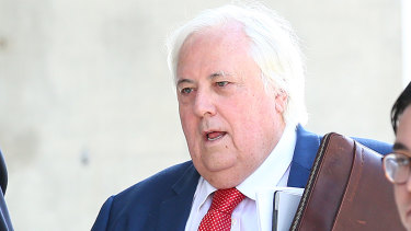 Clive Palmer outside court.