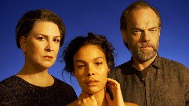 The Sydney Theatre Company's production of <i>Cat on a Hot Tin Roof</I> stars Pamela Rabe, Zahra Newman and Hugo Weaving.