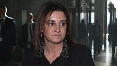 Senator Jacqui Lambie has demanded the Morrison government waive a Tasmanian government debt in return for her vote on income tax cuts.