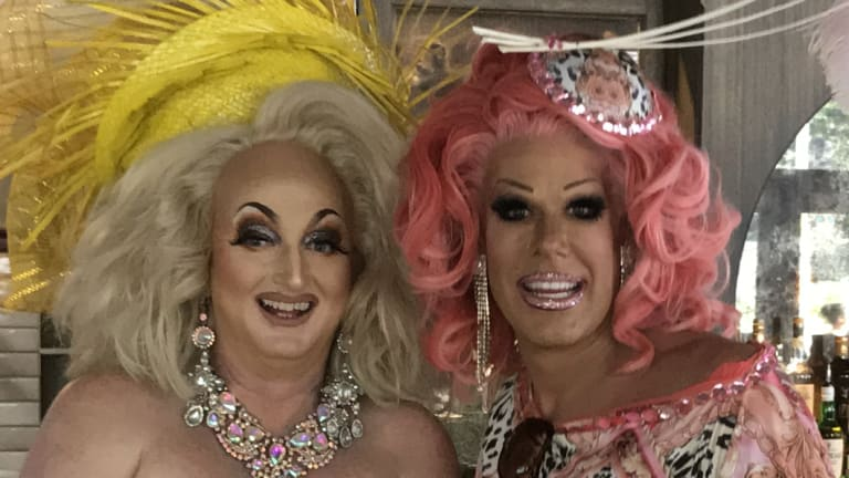 """Sydney """"gals"""" Sheila Blige and Penny Tration, potential attractions for next year's Birdcage?"""