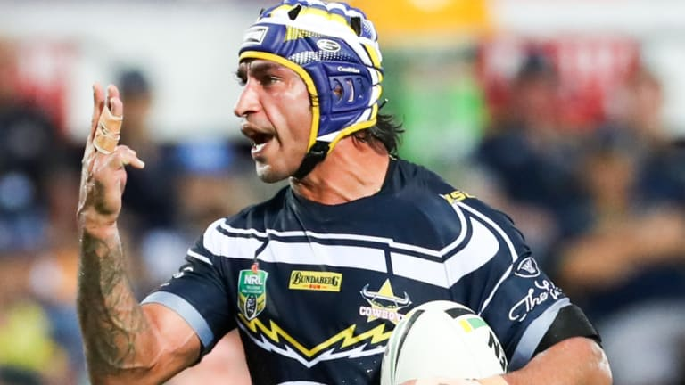 Out of sorts: Co-captain Johnathan Thurston appears flustered as the Cowboys' season continues to go off script in Townsville.