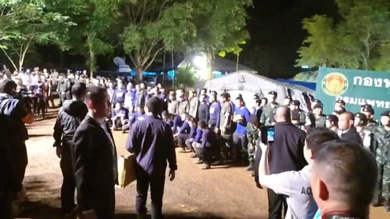 Thai Prime Minister Prayuth Chan-o-cha visiting the rescue site