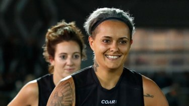Former Collingwood player Moana Hope.