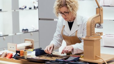 A Tod's artisan at work.