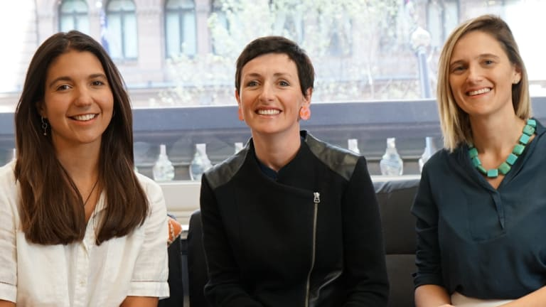 Verve's founders, from left, Alex Andrews, head of community engagement, Zoe Lamont, head of Verve Academy and CEO Christina Hobbs.