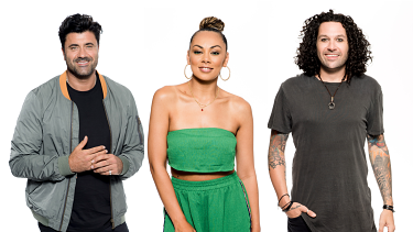 Season eight of The Voice features the familiar faces of Joey Dee, Prinnie Stevens and Lee Harding.