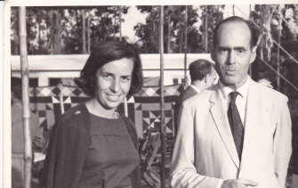 Anne Young with Group Caption Cheshire in 1966 in India.