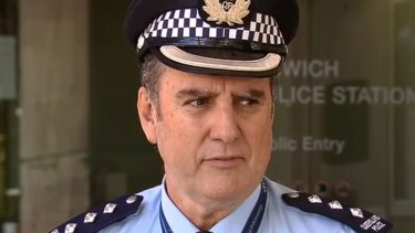 Ipswich District Inspector Michael Trezise discusses the incident where a man was shot dead by police in an Ipswich Hospital.