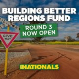 Nationals Building Better Regions Fund advertising.