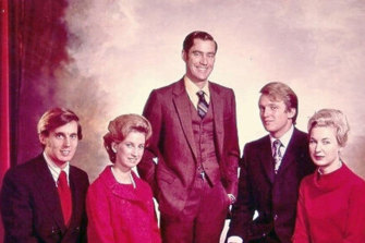 The Trump siblings - from left, Robert, Elizabeth, Fred jnr, Donald and Maryanne - in an undated photo.