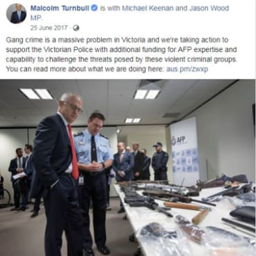 One of Malcolm Turnbull's Facebook posts from July last year.