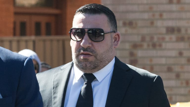 Michael Ibrahim attending a funeral in 2016.