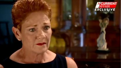 'Sick of it': Pauline Hanson breaks down in tears on A Current Affair