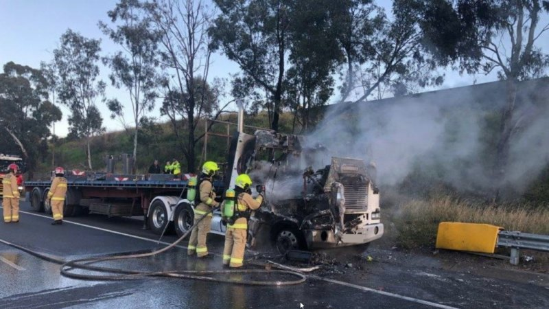 Crash on M5 follows earlier truck fire that caused peak hour gridlock