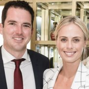 Social Seen: Peter Stefanovic and Sylvia Jeffreys at the opening of the Creed Australian flagship store in Double Bay on Wednesdey, November 7, 2018.