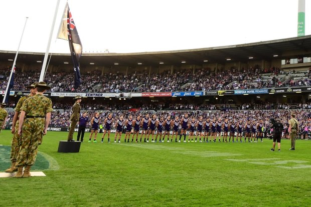 Fremantle and North Melbourne at a recent Len Hall Tribute match in Perth.