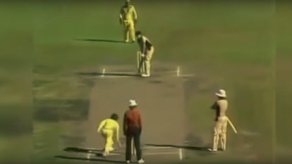 From the Archives, 1981: Howzat? Not cricket, says crowd to underarm bowl