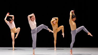 A striking choreographic sequence from Jo Lloyd's Overture.