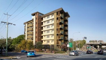 An artist's impression of Woolloongabba's new residential housing block, which will welcome its first tenants this month.