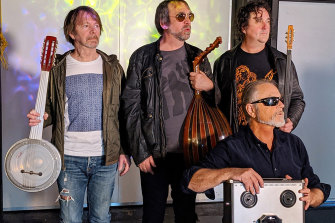 Steve Kilbey, right, and his band The Winged Heels.