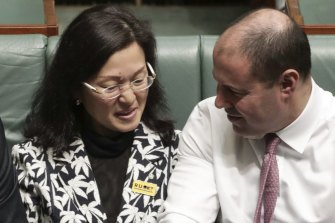 Gladys Liu with Treasurer Josh Frydenberg.