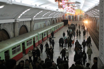 A visit to the Pyongyang Metro in 2012.