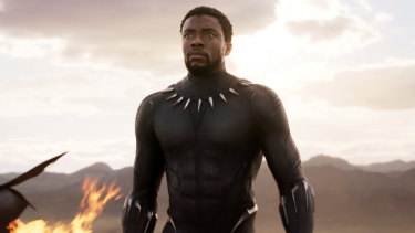 Breaking ground for more diverse superheroes on screen: Chadwick Boseman as the title character in Black Panther.