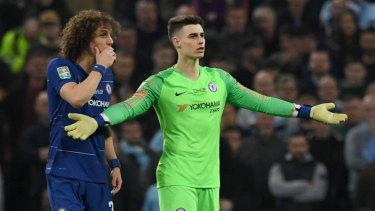 Chelsea goalkeeper Kepa Arrizabalaga has been benched.