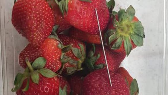 False claim of Queensland schoolgirl biting into strawberry containing needle