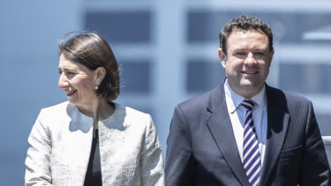 Premier Gladys Berejiklian and Stuart Ayres, Minister for Jobs, Investment, Tourism and Western Sydney.