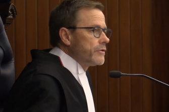 Supreme Court judge Justice Steven James Moore.