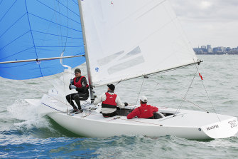 Magpie on course for victory at the Australian Championship in Brighton.