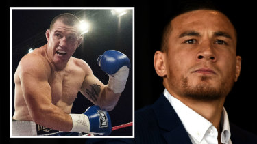 Sonny business: Sonny Bill Williams will box an as-yet-unnamed opponent on December 1, but Paul Gallen (inset) is always keen.