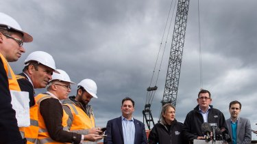 Victorian State Premier Daniel Andrews has overseen infrastructure building including new rail projects.