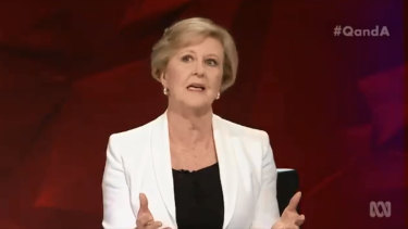 Gillian Triggs on Q&A.