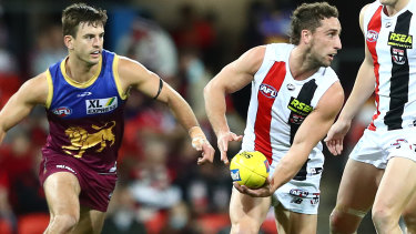 Unsociable: Luke Dunstan has added some much-needed grit to St Kilda this season.